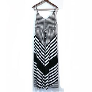 Torrid black and white striped maxi dress